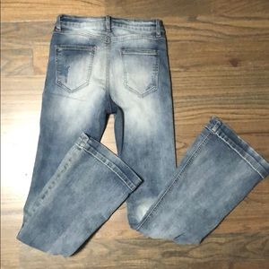 Cello distressed flare boho jeans. Size 3!